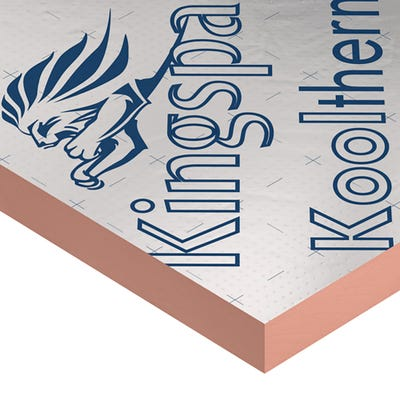 80mm Kingspan Kooltherm K107 Pitched Roof Board 2400mm x 1200mm (8' x 4')