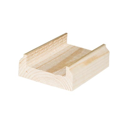 32mm Richard Burbidge Pine Baserail 2400mm BR2400/32P