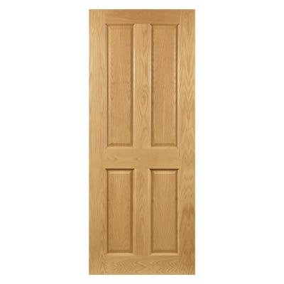 Deanta Internal Oak Bury 4 Panel Prefinished FD30 Fire Door
