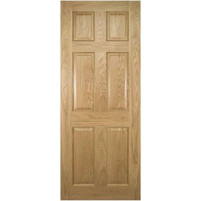 Deanta Internal Oak Oxford 6 Panel Prefinished Door 1981 x 686 x 35mm