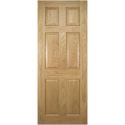 Deanta Internal Oak Oxford 6 Panel Prefinished FD30 Fire Door 1981 x 610 x 44mm