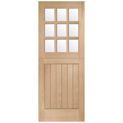 XL Joinery External Oak Stable M&T 9L Clear Glazed Door