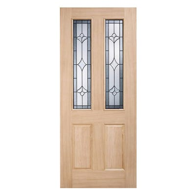 LPD External Oak Salisbury 2L Glazed Warmer Door