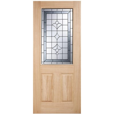 LPD External Oak Winchester 1L Double Glazed Warmer Door