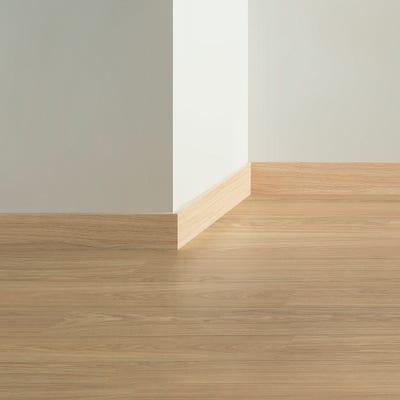 Quick Step Natural Varnished Oak Parquet Skirting 14 x 77 x 2400mm Design QS0896