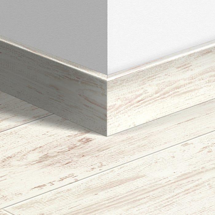 White Brushed Pine Parquet Skirting, White Brushed Pine Laminate Flooring
