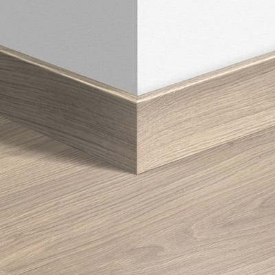 Quick Step Light Grey Varnished Oak Parquet Skirting 14 x 77 x 2400mm Design QS1304