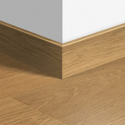 Quick Step Natural Varnished Oak Parquet Skirting 14 x 77 x 2400mm Design QS1284