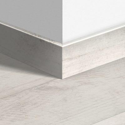 Quick Step Bleached White Teak Parquet Skirting 14 x 77 x 2400mm Design QS1290