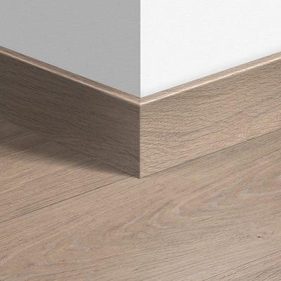Quick Step Bleached White Oak Parquet Skirting 14 x 77 x 2400mm Design QS1291