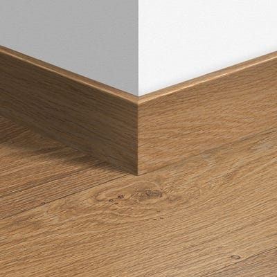 Quick Step Natural Varnished Oak Parquet Skirting 14 x 77 x 2400mm Design QS1292