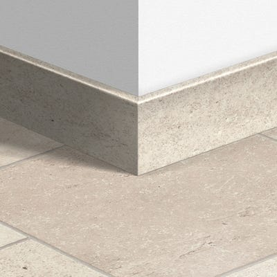 Quick Step Ceramic White Parquet Skirting 14 x 77 x 2400mm Design QS1553