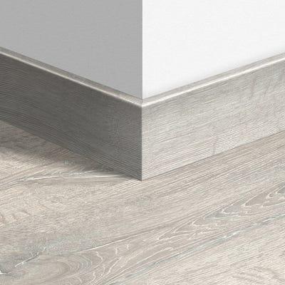 Quick Step Reclaimed White Patina Oak Parquet Skirting 14 x 77 x 2400mm Design QS1653