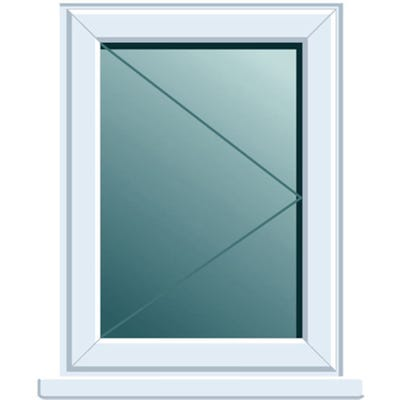 uPVC Window Side Hung RH Open Clear Glass 620 x 1050mm