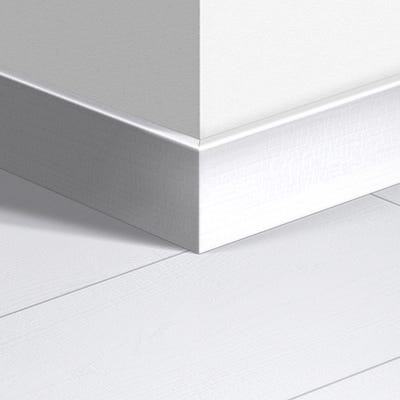 Quick Step White Planks Parquet Skirting 14 x 77 x 2400mm Design QS1859