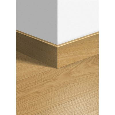 Quick Step Natural Varnished Oak Parquet Skirting 14 x 77 x 2400mm Design QS3106