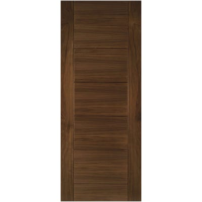 Deanta Internal Walnut Seville 7 Panel Prefinished FD30 Fire Door 1981 x 533 x 44mm