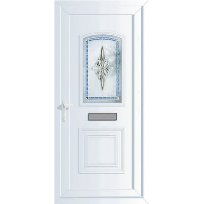 External uPVC Front Door Obscure Glazed Right Hand Opening 2085 x 920 x 70mm