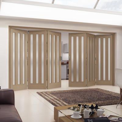 Jeld-Wen Internal Oak Aston 3L Obscure Glazed 6 Door (3+3) Roomfold 2047 x 4227 x 92mm
