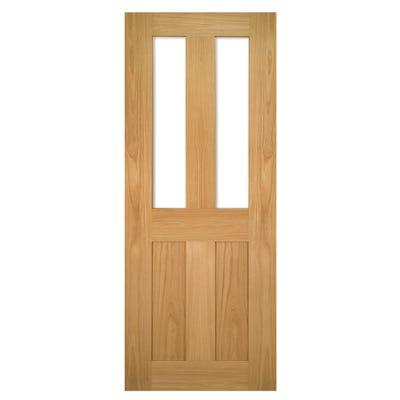 Deanta Internal Oak Eton Shaker 2L Clear Glazed Door