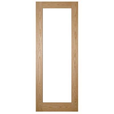 Deanta Internal Oak Walden 1L Pattern 10 Clear Glazed Door