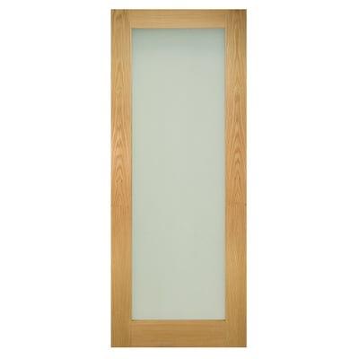Deanta Internal Oak Walden 1L Pattern 10 Frosted Glazed Door