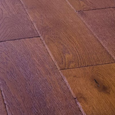 18 x 150mm Cognac Oak Lacquered T&G Engineered Wood Flooring