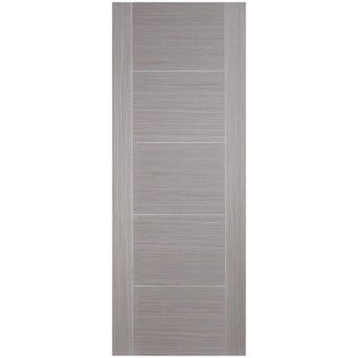 LPD Internal Light Grey Vancouver 5 Panel Prefinished FD30 Fire Door