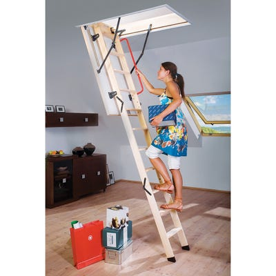 Fakro LWK Komfort 3 Section Loft Ladder 55cm X 111cm Opening