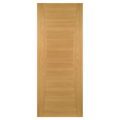 Deanta Internal Oak Pamplona 6 Panel Prefinished FD30 Fire Door