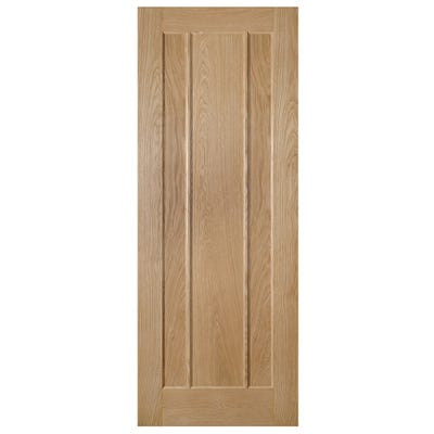 Deanta Internal Oak Norwich 3 Panel FD30 Fire Door