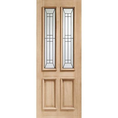 XL Joinery External Oak Malton M&T 2L Glazed Door