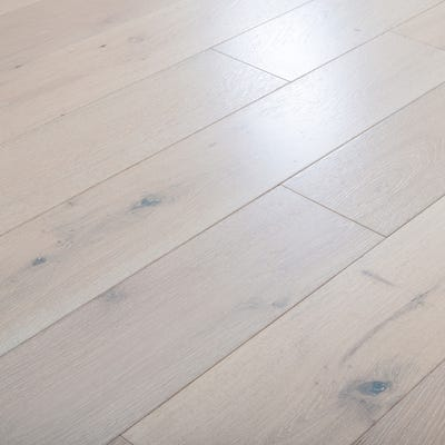 14 x 190mm Pure White Oak Matt Lacquered T&G Engineered Wood Flooring