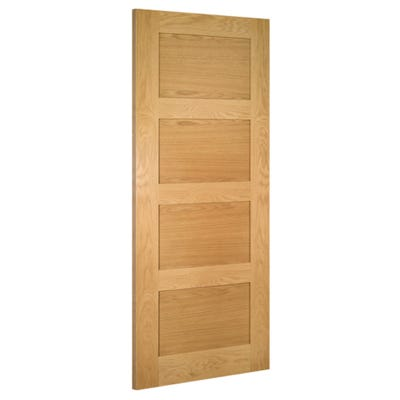 Deanta Internal Oak Coventry 4 Panel Prefinished Door
