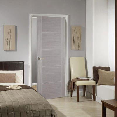 LPD Internal Light Grey Vancouver 5 Panel Prefinished Door