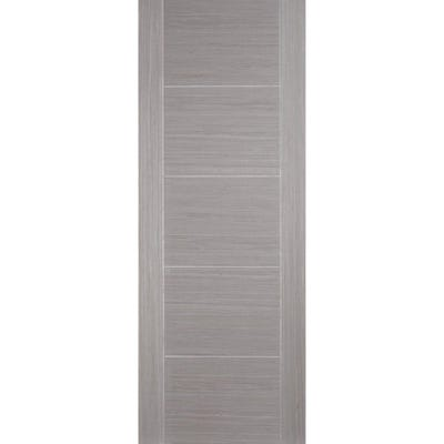 LPD Internal Ash Grey Vancouver 5 Panel Prefinished FD30 Fire Door