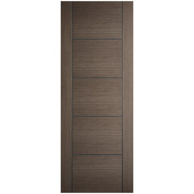 LPD Internal Chocolate Grey Vancouver 5 Panel Prefinished FD30 Fire Door