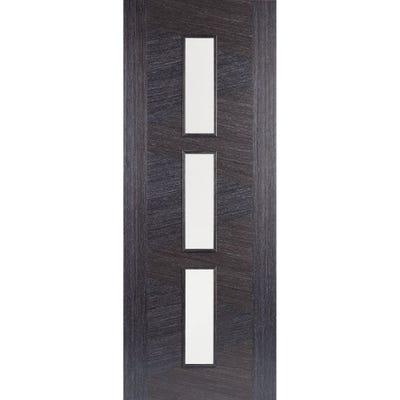LPD Internal Ash Grey Zeus Prefinished 3L Clear Glazed Door