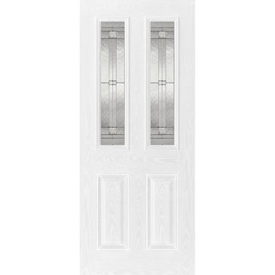 LPD External Composite/GRP Malton 2L White Glazed Door