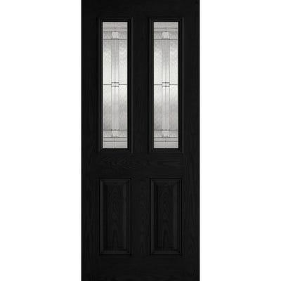 LPD External Composite/GRP Malton 2L Black Glazed Door