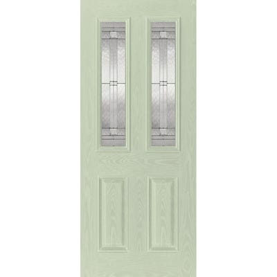 LPD External Composite/GRP Malton 2L Green Glazed Door