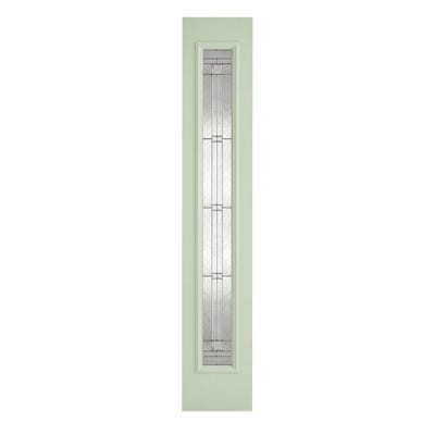 LPD External Composite/GRP Green Elegant Zinc Patterned Sidelight 2032 x 356 x 44mm