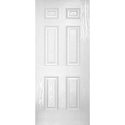 LPD External Composite/GRP Colonial 6 Panel White Door