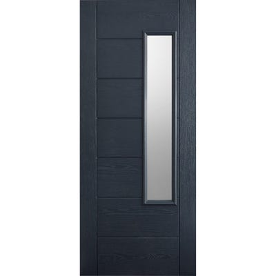 LPD External Composite/GRP Newbury 1L Grey Glazed Door