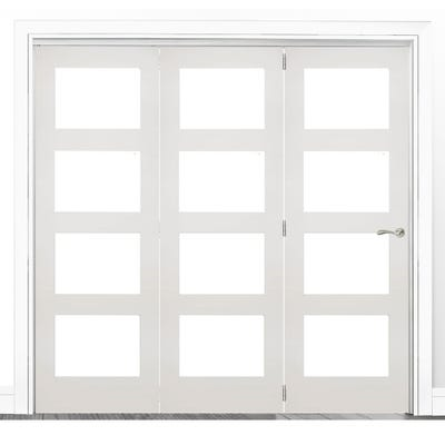 Deanta Internal White Primed Coventry Clear Glazed 3 Door Room Divider 2060 x 2136 x 133mm