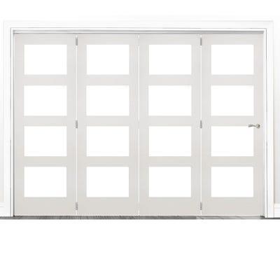 Deanta Internal White Primed Coventry Clear Glazed 4 Door Room Divider 2060 x 2825 x 133mm