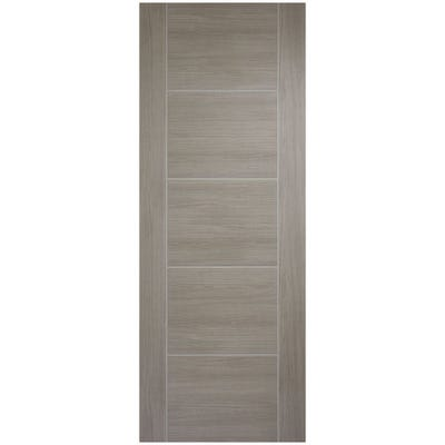 LPD Internal Light Grey Laminate Vancouver 5 Panel Prefinished Door