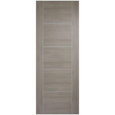 LPD Internal Light Grey Laminate Vancouver 5 Panel Prefinished Door