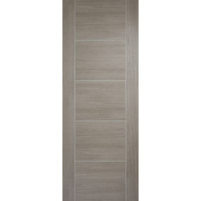 LPD Internal Light Grey Laminate Vancouver 5 Panel Prefinished FD30 Fire Door