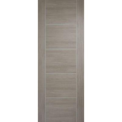 LPD Internal Light Grey Laminate Vancouver 5 Panel Prefinished FD30 Fire Door